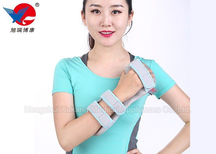Breathable Fabric Wrist Support Brace , Gray M / L Adjustable Wrist Support