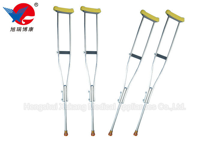 Safety Convenient Medical Walking Crutches , Aluminum Alloy Weight Bearing Crutches